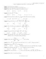Trắc nghiệm Đại số 9 chương I
