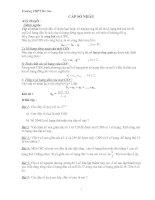 Bài tập cấp số nhân(có tóm tắt lý thuyết đầy dủ)