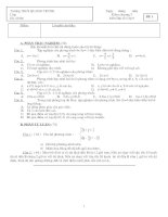 Kiểm tra Đại số 9 chương III: Hệ hai phương trình bậc nhất hai ẩn