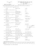 Đề kiểm tra học kì I Toán 7  (đề 2)