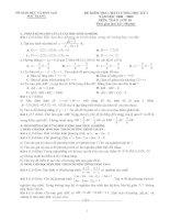 Đề thi học kì môn toán lớp 10 tỉnh bắc giang