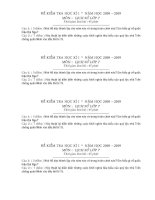 Đề thi HK 1 - Lịch sử 7