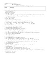 Tiết 17: Đề thi học kỳ I lớp 8