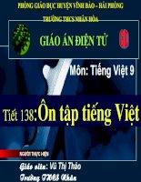 Tiếng Việt 9-Tiết 138-Ôn tập