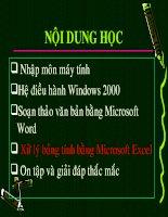 Bai Giang Excel.ppt
