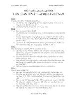 một số bài tập về át lát Địa lí Việt Nam