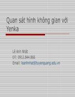 Quan sát hình không gian với Yenka