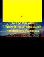 BÀI 12: THIÊN NHIÊN NHIỆT ĐỚI ẨM GIÓ MÙA