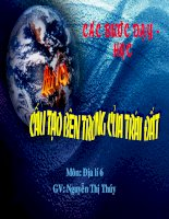 Bài 10: Cấu tạo bên trong của Trái Đất