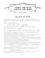 Một số bài toán số học