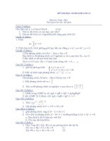 Đề thi HSG lớp 12 có đáp án đề 2