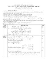 đáp án đề thi vào 10 chuyên toán ninhbinh