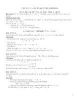các bài toán liên quan đến hàm số