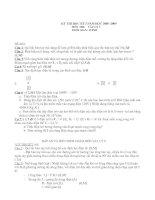 Bộ đề thi Lý các lớp 6-7-8-9 (12 đề)