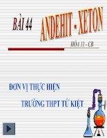 Bài 44: Andehit- Xeton