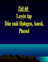 Bài 42: Luyen tap dan xuat Halogen,Ancol va Phenon
