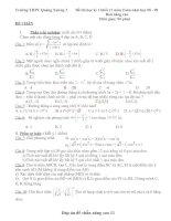 đề thi học kì 1 khối 11 đề chẵn nâng cao
