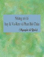 Tiết 109 -110: Những trò lố hay là Va-ren và Phan Bội Châu
