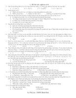 Đề ôn thi đại học 2008- số8 + Đáp án