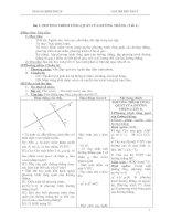 Giáo án Hình học 10 chương III (nâng cao)