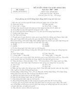 Đề thi & đáp án tuyển sinh 10 Đại trà Môn Sinh 2