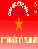 Bai giang : Ly tuong song cua thanh nien