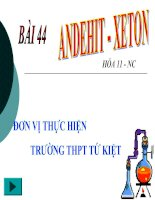 Bài 44: Andehit- Xeton (nâng cao)
