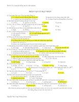 43 Câu trắc nghiệm Vật lý Hạt nhân