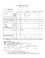 Noel 2008-Đề thi Địa lý HK1 lớp 8 kèm đáp án (Đề 04)