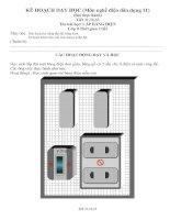 Nghề điện dân dụng lớp 11 tiết Thực hành lắp bảng điện