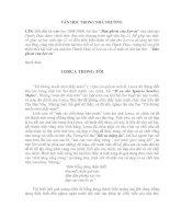 Thanh Thảo viết về Lorca và sự ra đời của bài thơ