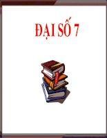 Đại số 7. Tiết 37-38:Ôn tập học kì 1 cực hay