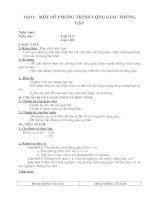 chương 1 bài 3: Một số PT lượng giác thường gặp