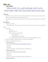 Bài 18: thực hành tính chất của một số hợp chất nitơ, phân biệt một số loại phân bón hữu co