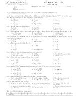 Đề kiểm tra 15'' lý 9 (100% trắc nghiệm)