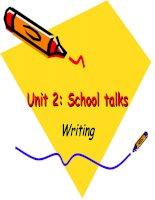 unit 2 - School talks-writng