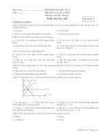 Kiểm tra Vật lý 10 học kì I