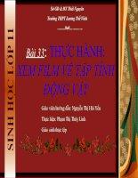 Bài 33: Thực hành xem film về tập tính động vật