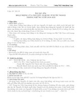 Giáo án sử 9, bài 16: Hoạt động của Nguyễn Ái Quốc ở nước ngoài 1919-1925