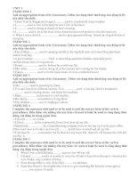 Bài tập Tiếng Anh 9