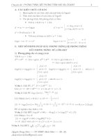 PT BPT MŨ và LÔGARIT (BT có ĐS)