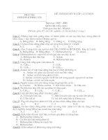 Đề thi & đáp án thi BKII lớp 11 Môn Hóa  2