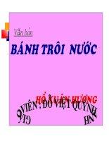 Banh troi nuoc