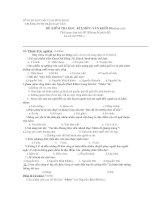 ĐỀ VÀ ĐÁP ÁN THI HỌC KỲ I lớp 10 NC