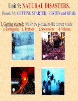 unit 9: getting started + Listen and read
