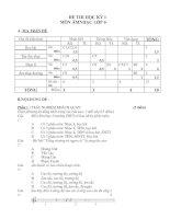 Đề thi học kì 1 và đáp án môn Âm  nhạc lớp 6 (Mới)