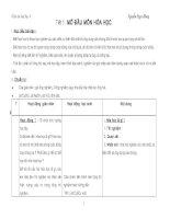Giáo án Hóa học 8 ( Tiết 1-Tiết 62)