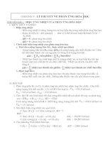 Chương V : Lý thuyết về phản ứng hóa học
