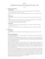 Bài 11: Chính sách dân số và giải quyết việc làm