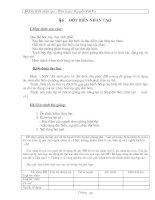 Giáo án Sinh học 12 bài 6